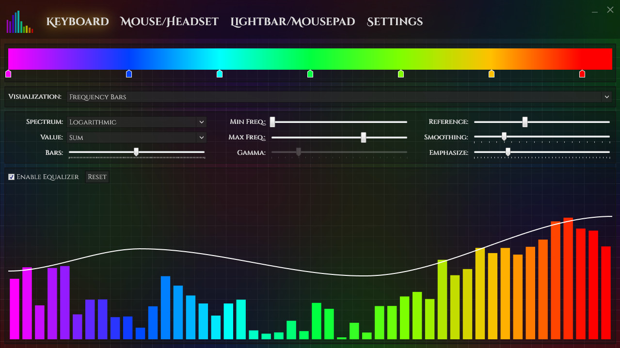 keyboard audio visualizer the corsair user forums